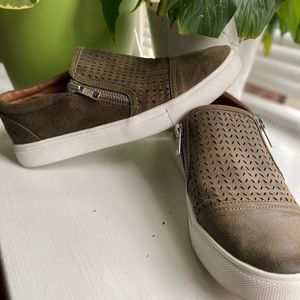 Cute slip on shoes with zippers